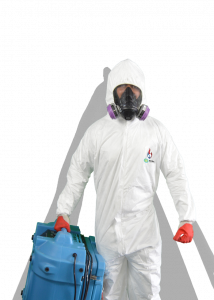 death cleanup Grande Prairie, bio-hazard man with ppe