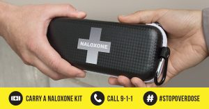 Naloxone kits kept on site during fentanyl decontaminations, opioid and other drug cleanups